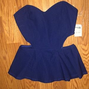 Charlotte Russe Cut Out Peplum Top